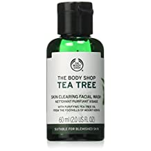 The Body Shop Tea Tree Skin Clearing Facial Wash, Made with Tea Tree Oil for Blemish-Prone Skin, 100% Vegan, 60ML