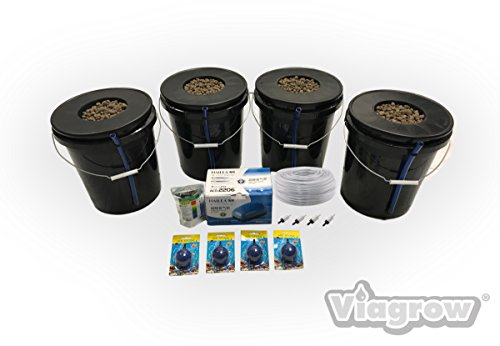New Viagrow VDIY Deep Water Hydroponic 4 Plant System Hydroponic System 1