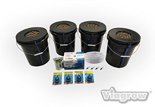 New Viagrow VDIY Deep Water Hydroponic 4 Plant System Hydroponic System 4