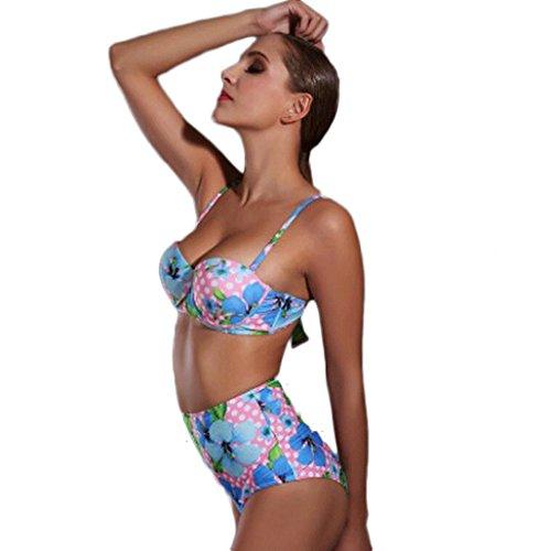 Traje de baño de las señoras Traje de baño de moda de acero loft bikini de dos piezas de traje Bikini Multi - color