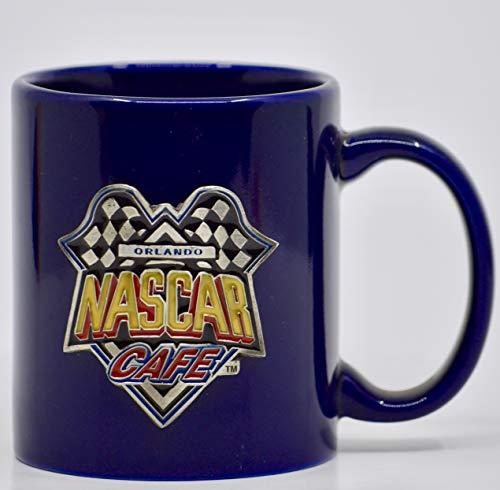 - NASCAR Cafe Orlando - Dark Blue - Coffee Mug w/Pewter Logo/Emblem - Collectible - Rare