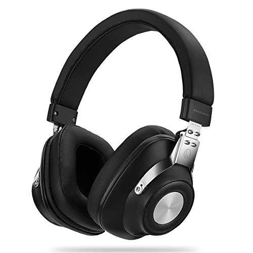 Active Noise Cancelling Headphones with Inline Microphone and Carrying Case for Travel, Over-Ear, Wired - Black