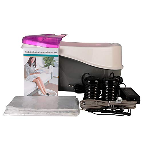 Vitaciti Ionic Cell Detox Foot Cleanse SPA Machine Plus Panel Control + Massager Tub Basin 2 Arrays