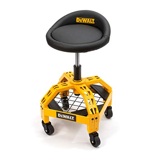 (DEWALT DXSTAH025 24 in. H x 16 in. W x 16 in. D Adjustable Shop Stool with Casters)