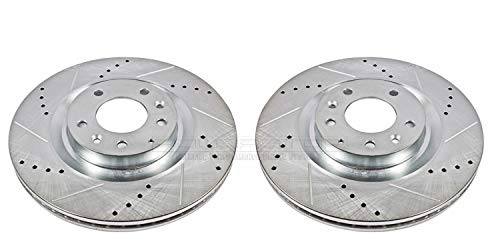 Power Stop JBR968XPR Front Evolution Drilled & Slotted Rotor Pair ()