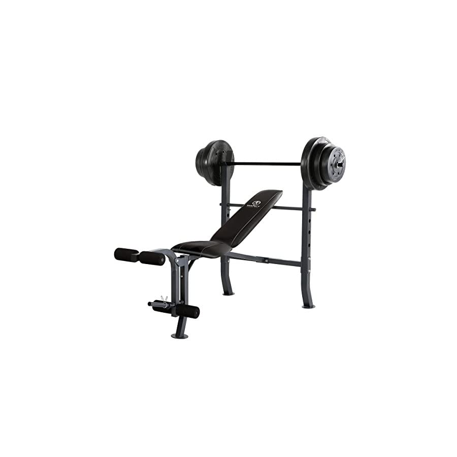 Marcy MD 2082W Diamond Elite MD Standard Bench with 100 lb. Weight Set