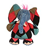 HuggleHounds Plush Durable Squeaky Chubbie Buddies Elephant Toy, Large