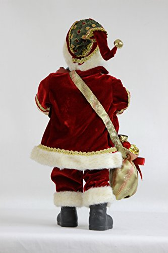 17 inch standing animated musical dancing violin santa for Animated santa claus decoration