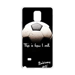 Canting_Good Soccer Black and White Custom Case Shell Skin for SamSung Galaxy Note4 (Laser Technology)