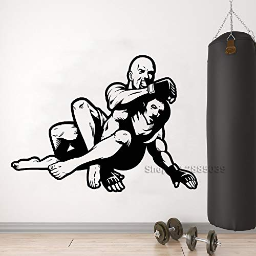 Etiqueta de la pared de vinilo de combate arte marcial artes ...