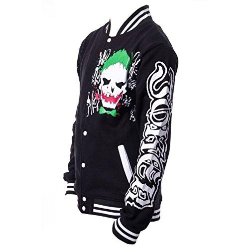 Comics Batman Varsity Dc Rosso Joker 52 Nero 44 Verde Unisex Suicide Jacket ZOO6qwd
