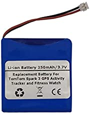 3.7V 250mAh Replacement Battery for Tomtom Spark 3 GPS Activity Tracker, Fitness Watch,PP332727