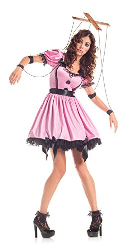 Party King Women's Marionette Costume Dress Set, Pink, (Wind Up Doll Costume)