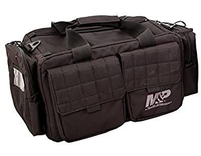 Smith & Wesson Gear MP Officer Tactical Range Bag with Weather Resistant Material for Gun Pistol Shooting Ammo Accessories and Hunting