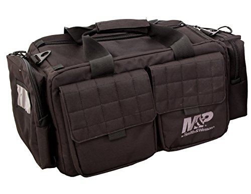 (Smith & Wesson M&P Officer Tactical Range Bag with Weather Resistant Material for Shooting, Range, Storage and Transport)