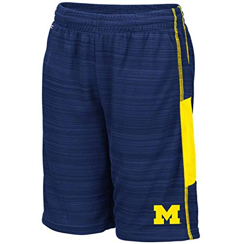 Colosseum Michigan Wolverines Youth NCAA Wewak Shorts - Navy, Youth Large