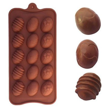 Bar Tools & Accessories - Easter Egg Shape Silicone Chocolate Mold Baking Cake Cookie Ice Mould Fondant Decorating Tool - Egg Shape Silicone Mold Toys Keychain Container Shaper - Chocolate - 1PCs