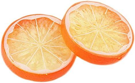 12 piezas de simulación de resina de frutas, limón y limón, de ...