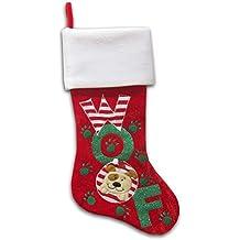 """20"""" Pet Christmas Stocking, WOOF, Dog (WOOF Dog)"""