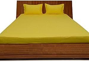 Brightlinen Yellow Single (90 X 190 Cm) Fitted Sheet Stripe (pocket Size: 30 Cm) 3pcs