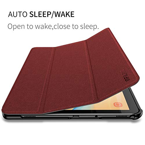Infiland Samsung Galaxy Tab S4 Case with S Pen Holder Auto Wake/Sleep for Samsung Galaxy Tab S4 10.5 Model SM-T830/T835 2018 Release, Dark Red