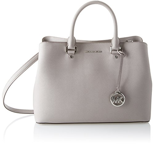 Michael Kors Womens Savannah Satchel Grey (Pearl Grey)