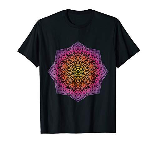 Rainbow Mandala Yoga Prana Om Shirt (By Mens Clothing Amazon Sold)