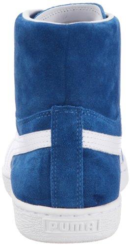 Suede Mid 351911 01 Sportive Classics white Blau Herren Bright Puma Cobalt Sneakers T6dwq564