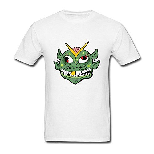 Heerinsy Men's Halloween Monster Mask Green Color Short Sleeve T-Shirt S (Sarah Palin Mask)
