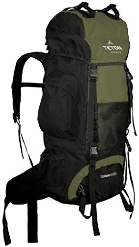 TETON Sports Explorer 4000 Internal Frame Backpack; High-Performance Backpack for Backpacking, Hiking, Camping 1 NOT YOUR BASIC BACKPACK: Continues to be the top selling internal frame backpack on Amazon at a great price for all the included features VERSATILE QUICK TRIP PACK: Perfect backpack for men, woman and youth; best for 3-5-day backpacking trips; 3400 cubic inches (65 L) capacity; weighs 5 pounds (2.3 kg) COMFORT YOU CAN CUSTOMIZE: Multi-position torso adjustment fits wide range of body sizes; Durable open-cell foam lumbar pad and molded channels provide maximum airflow and balance