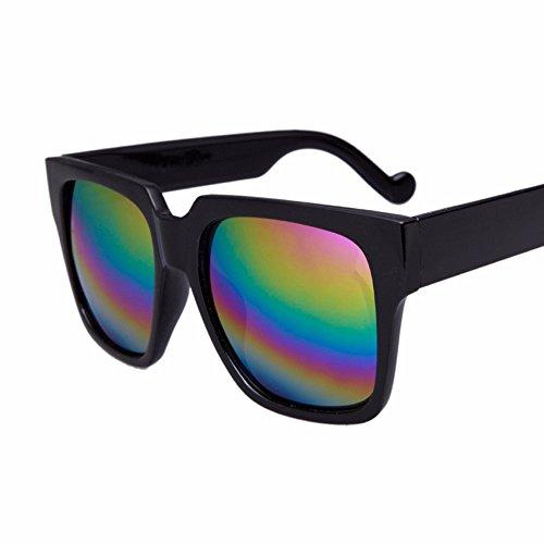 cara color square box negro sol claro big de sol big retro Gafas box redonda personalidad de gafas XIAOGEGE El AwYUpqxRU
