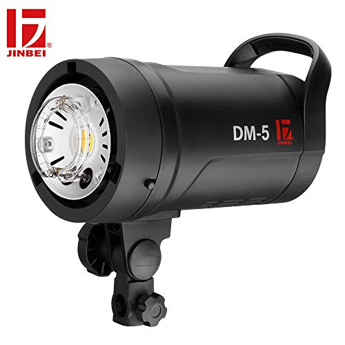 JINBEI DM-5 500Ws Professional Potable Monolight Studio Flash Strobe Light 2.4G Wireless with LED Modeling Lamp Bowens Mount Wide Voltage Global Use for Portrait Fashion Wedding Art Photography