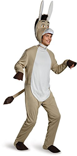 Disguise Men's Shrek Donkey Deluxe Costume, Grey, (Deluxe Shrek Donkey Costumes)