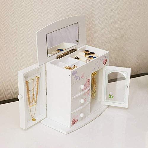 ZYL-YL ジュエリー収納ボックスの女性のベッドルームホームクリエイティブ木製ジュエリーボックス、宝石箱のストレージボックス、