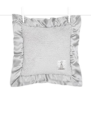 Little Giraffe Bella Pillow, Silver, 14