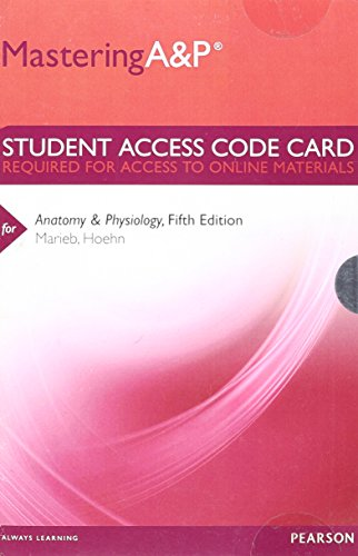 MasteringA&P -- Standalone Access Card -- for Anatomy & Physiology