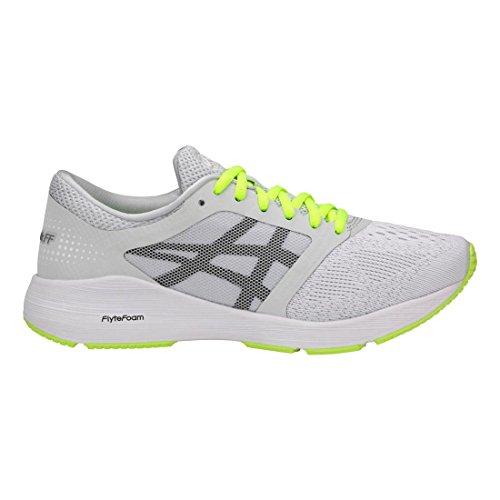 ASICS Womens Roadhawk FF Sneaker, Glacier Grey/Black/Safety Yellow, Size 5