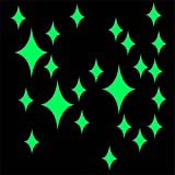 Luxsea DIY Glow Wall Stickers, Great Objects Baby Room Glow Wall Decals Decoration Diamond Shape Party Kids Home D¨¦cor Paper Sheet Optional Paste