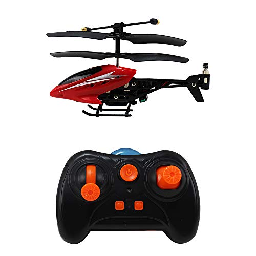 HAOXIN Mini RC Helicopter, RC Plane Smart Plane 3.5 Channel Infrared with Led Light Office Toy for Relax Ready to Fly Remote Control Toys Red