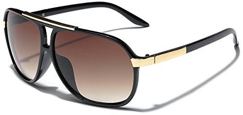 Classic 80s Fashion Aviator Sunglasses Retro Vintage Men#039s Women#039s Glasses Black | Brown
