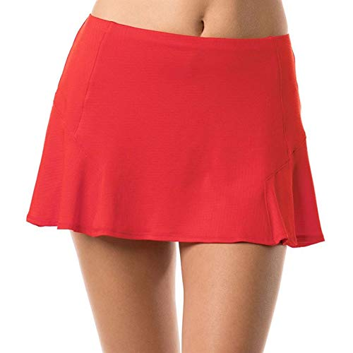 Lucky In Love Bloomy Dimensions Step Up Skirt (Small) Crimson