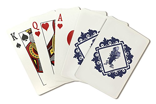Delft Tulips and Border (Playing Card Deck - 52 Card Poker Size with Jokers)