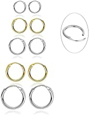 5 Pairs 316L Stainless Steel Small Hoop Earrings Set Hypoallergenic Cartilage EarringEndless Tragus Earrings f