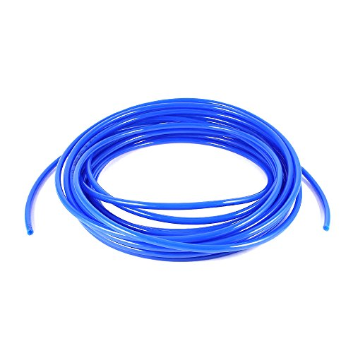 Sydien 20 Meters 65.6 Ft Pneumatic Polyurethane for Fluid Transfer Pneumatic Tubing Or Air Line Tubing PU Hose Tube Pipe Blue, 6mm OD 4mm ID