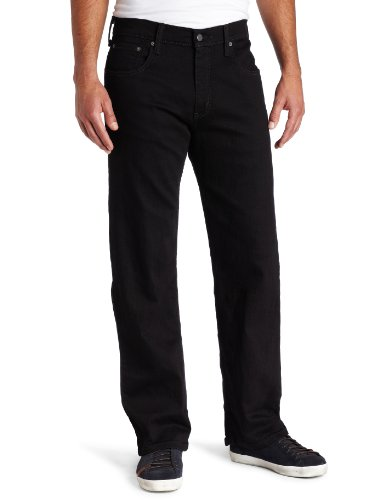 Levi's Men's 569 Loose Straight Leg Jean, Black, 44x30 (Waist Below Jeans)