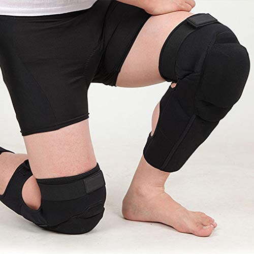 TY BEI Kneepad Kneepad - Motorcycle Knee Pads Protector Sports Scooter Motor-Racing Guards Gears Scooter Protective Kneepad L/XL @@ (Color : Black, Size : L) by TY BEI (Image #3)