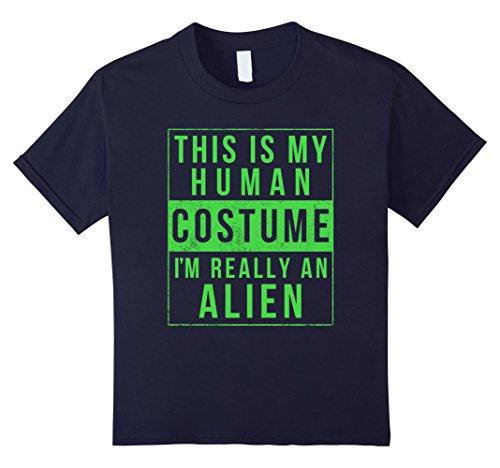 Kids Alien Halloween Costume Shirt Funny UFO Easy for Kids Adults 12 (Halloween Costumes Diy College)