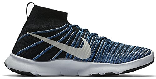 Nike Men's Free TR Force Flyknit Running Shoes (8, Black/White-Blue Glow)