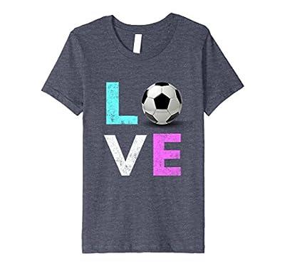 Women Love Soccer Best Birthday Gift Premium T-Shirt
