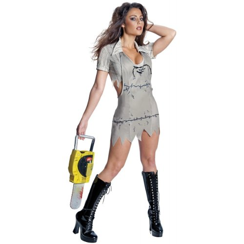 Texas Chainsaw Massacre Miss Leatherface Costume, Standard Color, X-Small]()